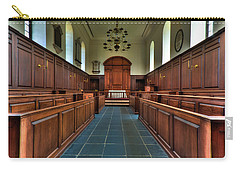 Carry-all Pouch featuring the photograph Wren Chapel Interior by Jerry Gammon