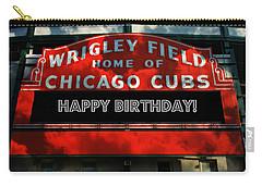 Wrigley Field -- Happy Birthday Carry-all Pouch by Stephen Stookey