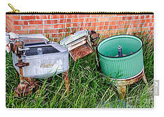 Carry-all Pouch featuring the photograph Wringer Washer And Laundry Tub by Sue Smith