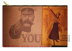 Ww1 Recruitment Posters Carry-all Pouch