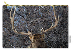 Carry-all Pouch featuring the photograph Wyoming Elk by Michael Chatt