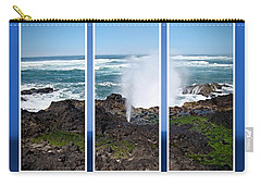 Carry-all Pouch featuring the photograph Yachats Bay Oregon by Nick Kloepping