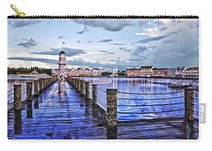 Yacht And Beach Club Lighthouse Carry-all Pouch by Thomas Woolworth