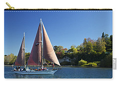 Yacht Fearless On Lake Taupo  Carry-all Pouch by Venetia Featherstone-Witty