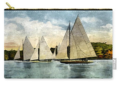 Yachting In Saugatuck Carry-all Pouch by Michelle Calkins