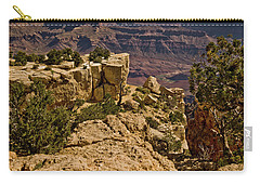 Carry-all Pouch featuring the photograph Yaki Point 3 The Grand Canyon by Bob and Nadine Johnston