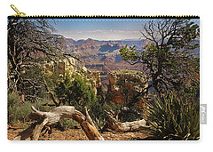 Carry-all Pouch featuring the photograph Yaki Point 4 The Grand Canyon by Bob and Nadine Johnston