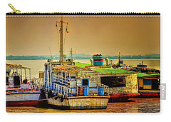 Carry-all Pouch featuring the photograph Yangon Harbour by Wallaroo Images