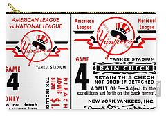 Yankees 4th Straight - Modern Carry-all Pouch by Benjamin Yeager