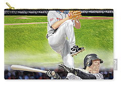 Carry-all Pouch featuring the digital art Yankees Vs Indians by Thomas J Herring