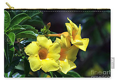 Yellow Allamanda Carry-all Pouch by Teresa Zieba