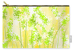 Yellow And Green Art Carry-all Pouch by Lourry Legarde