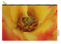 Yellow And Orange Rose Carry-all Pouch