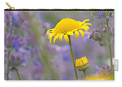 Yellow And Purple Flowers On A Green Summer Meadow Carry-all Pouch
