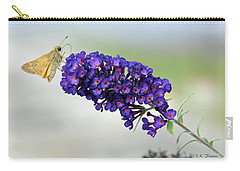 Yellow And Purple Carry-all Pouch by Kenny Francis
