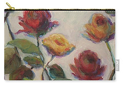 Yellow And Red Roses  Carry-all Pouch