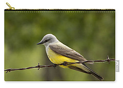 Yellow-bellied Fence-sitter Carry-all Pouch by Gary Holmes