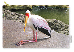 Carry-all Pouch featuring the photograph Yellow-billed Heron by Sergey Lukashin