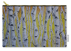 Carry-all Pouch featuring the painting Yellow Birch by Kelly Mills