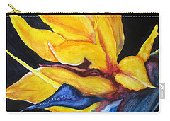 Yellow Bird Carry-all Pouch by Lil Taylor