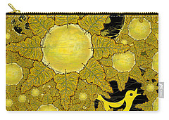 Yellow Bird Sings In The Sunflowers Carry-all Pouch by Carol Jacobs