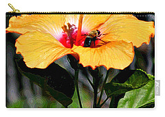Yellow Bumble Bee Flower Carry-all Pouch