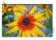 Carry-all Pouch featuring the photograph Yellow Burst by Allen Beatty