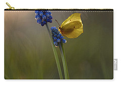 Yellow Butterfly On Grape Hyacinths Carry-all Pouch