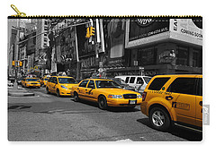 Yellow Cabs Carry-all Pouch by Randi Grace Nilsberg