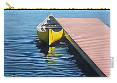Yellow Canoe Carry-all Pouch by Kenneth M  Kirsch