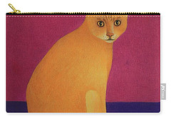 Yellow Cat Carry-all Pouch by Pamela Clements
