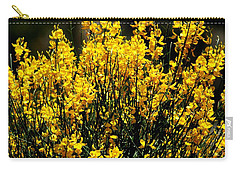 Yellow Cluster Flowers Carry-all Pouch by Matt Harang