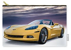 Yellow Corvette Convertible Carry-all Pouch by Douglas Pittman