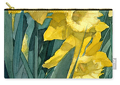 Yellow Daffodils Carry-all Pouch by Greta Corens