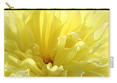 Yellow Dahlia Burst Carry-all Pouch
