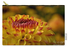 Yellow Dahlia Red Tips Carry-all Pouch