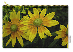 Carry-all Pouch featuring the photograph Yellow Daisies by James C Thomas