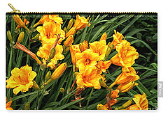 Yellow Daylilies Carry-all Pouch by Lena Auxier