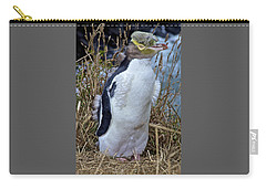Endangered Yellow Eyed Penguin Hoiho Carry-all Pouch by Venetia Featherstone-Witty