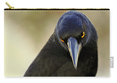 Yellow Eyes Carry-all Pouch by Miroslava Jurcik