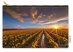 Yellow Fields And Sunset Skies Carry-all Pouch
