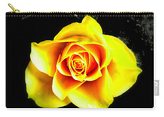Yellow Flower On A Dark Background Carry-all Pouch