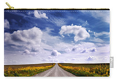 Yellow Flower Road Carry-all Pouch