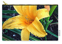 Carry-all Pouch featuring the photograph Yellow Flower by Sergey Lukashin