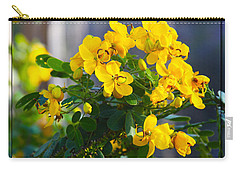 Yellow Flowers Carry-all Pouch by Chris Thomas