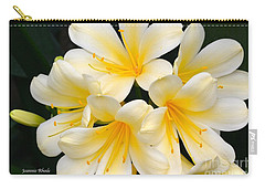 Carry-all Pouch featuring the photograph Clivia Yellow Flowers by Jeannie Rhode