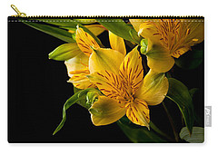 Carry-all Pouch featuring the photograph Yellow Flowers by Sennie Pierson