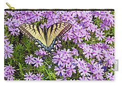 Yellow Flutterby Carry-all Pouch by Kenny Francis