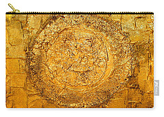 Yellow Gold Mixed Media Triptych Part 1 Carry-all Pouch
