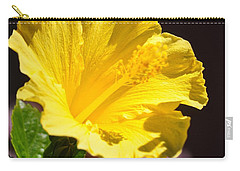 Yellow Hibiscus Open To The Sun Carry-all Pouch by Jay Milo